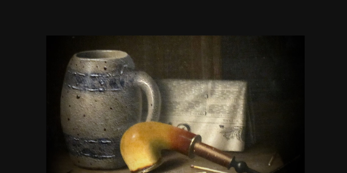 W.M.Harnett, Still Life with Pipe